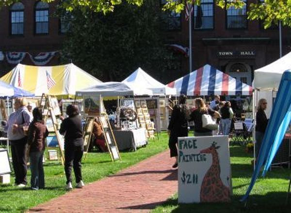 Shoppers at craft fair in Hyannis MA