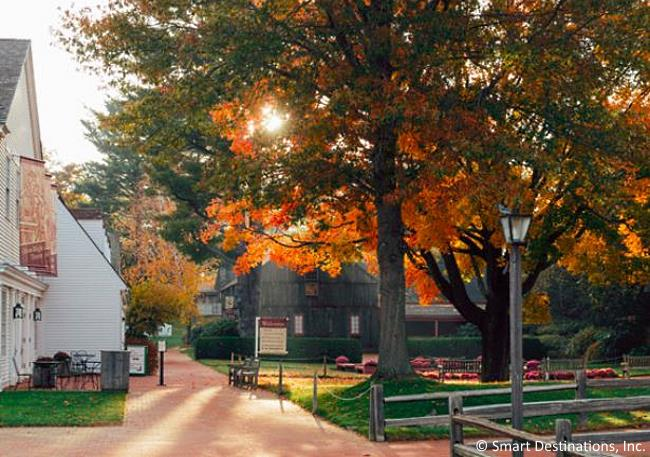 Autumn scene at Old Sturbridge Village