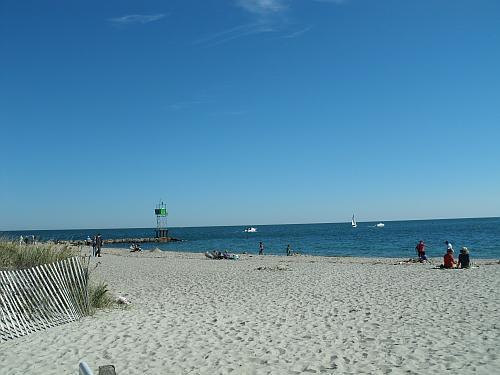 Sunbathers on Smugglers Beach