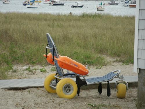 Mobi-chair at Kalmus Beach in Hyannis