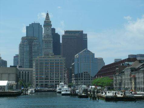 Boston kyline view from the ferry