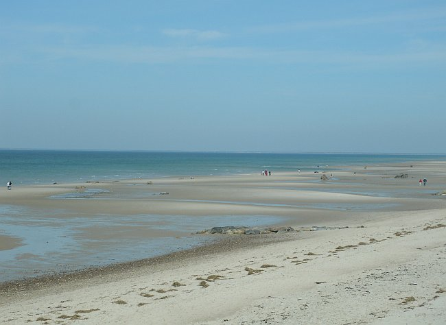 Sand bars at half-tide on Cape Cod Bay