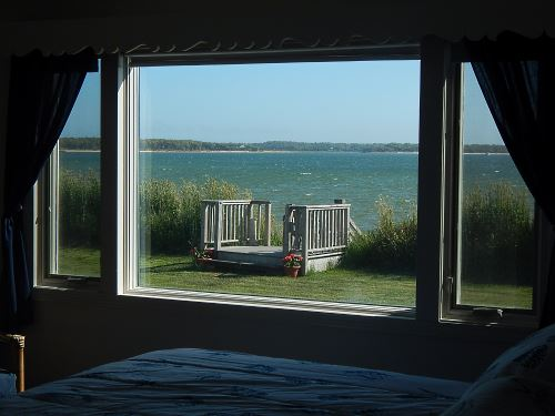 Water view from the master bedroom