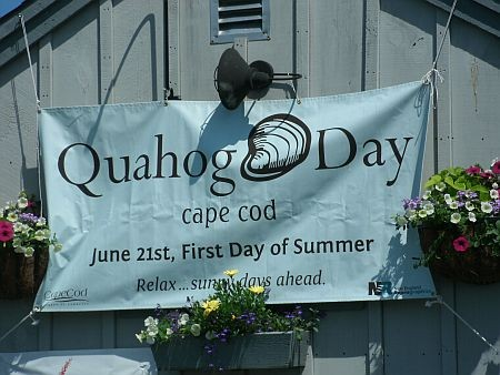 quohog day celebration sign