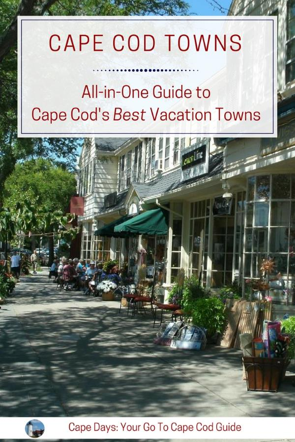 Main Street in Falmouth MA, one of 15 quaint Cape Cod towns