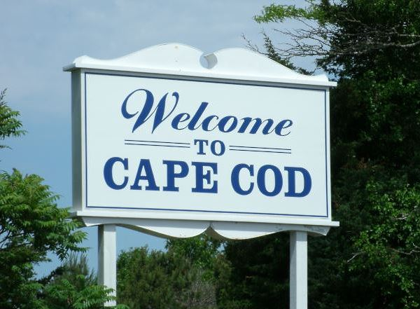 Welcome to Cape Cod sign