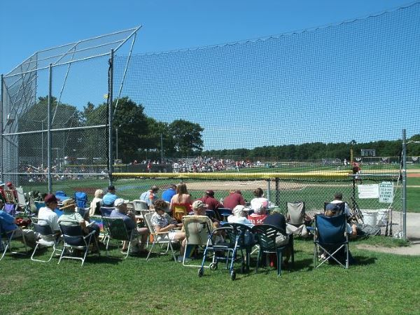 Lawn seating at Red Wilson Field in Yarmouth