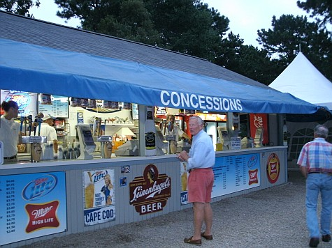 Food and drink concessions at the Melody Tent