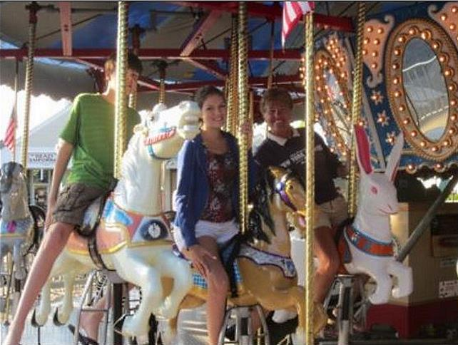 Riding the Carousel on Main Street in Hyannis