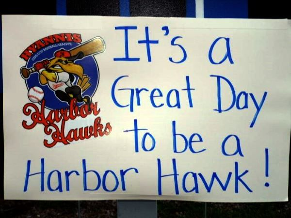 Hyannis Harbor Hawks sign