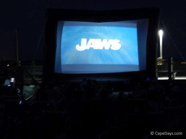 Movie screen at the beach