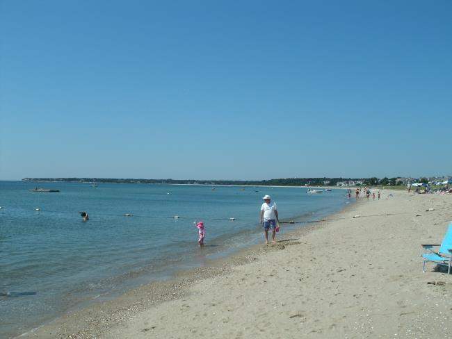 Families on a Nantucket Sound Beach