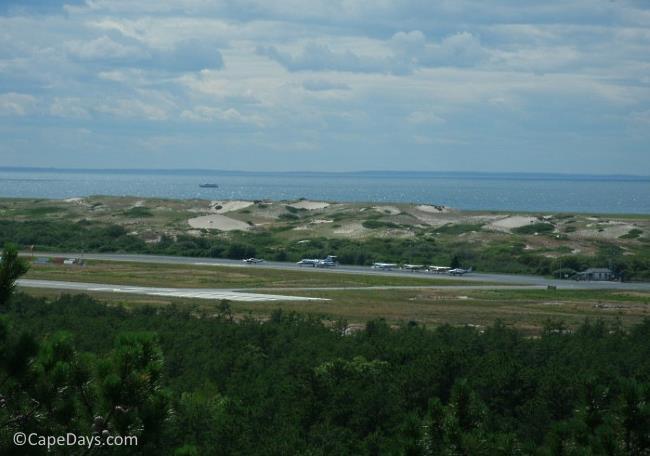 Overlooking the runway