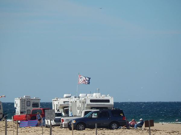 Campers on the beach at Race Point