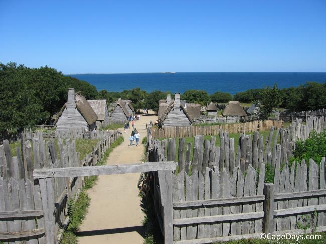 View of Plymouth Plantation