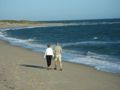 Walking along South Cape Beach on Cape Cod