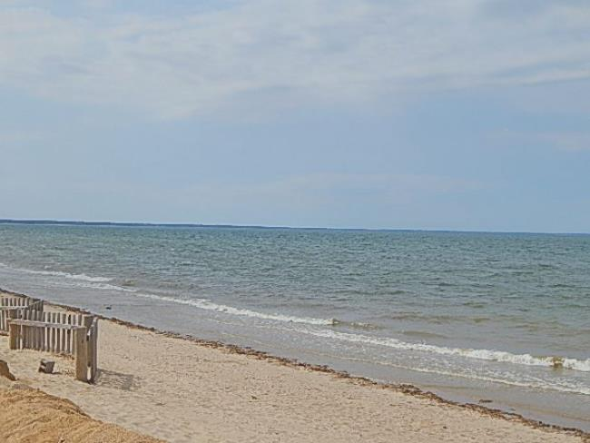 View of Cape Cod Bay from Sunken Meadow Beach in Eastham MA