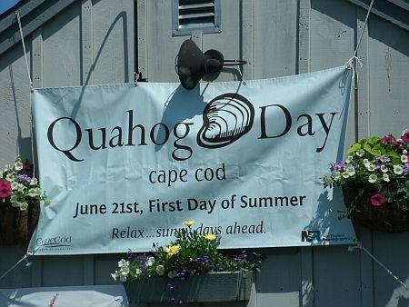quohog day celebration sign