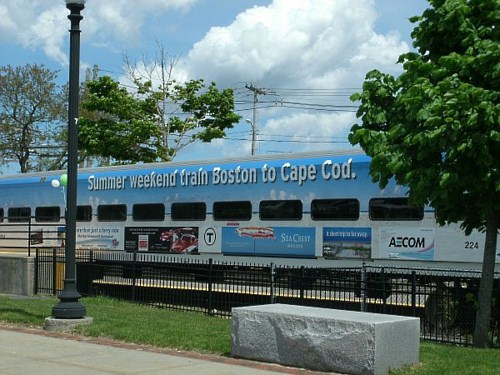 CapeFlyer Train at Hyannis MA Transportation Center
