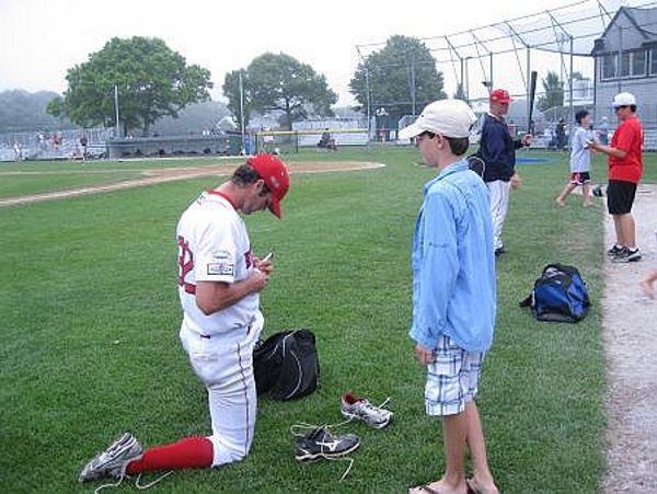 Getting a Cape League player autograph