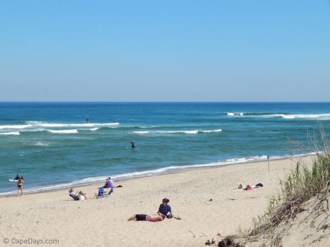 A beautiful view of Coast Guard Beach in Eastham MA