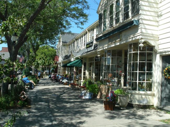 View of Main Street in Falmouth Village