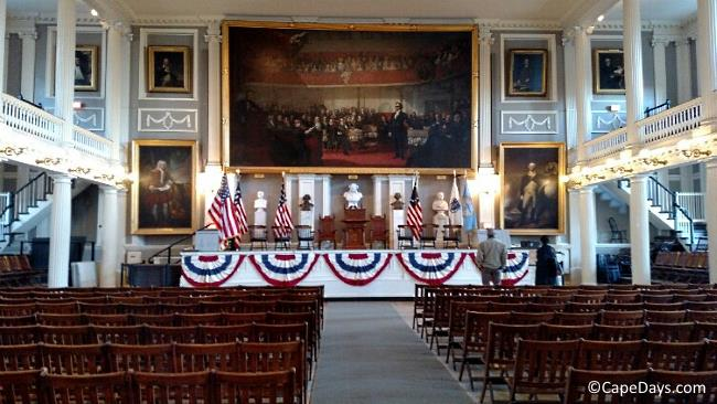 Inside Faneuil Hall in Boston