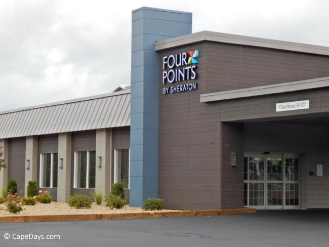 Wheelchair accessible hotel entrance at Four Points by Sheraton in Eastham, MA