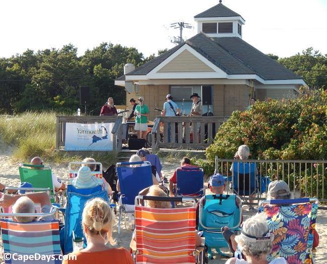 Concert underway at a Cape Cod beach