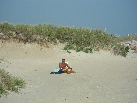 Relaxing at Earle Road Beach in Harwich