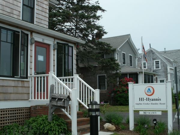 Entrance to the hostel in Hyannis MA