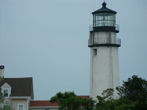 Close-up view of Cape Cod Lighthouse