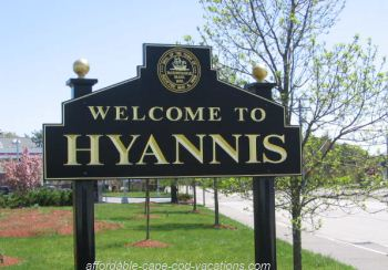 Welcome to Hyannis MA Sign