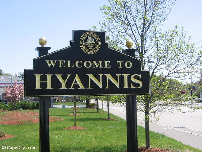Welcome To Hyannis Sign