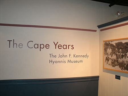 sign inside john f kennedy hyannis museum