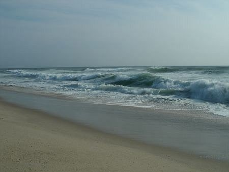 surf and sand at nauset beach