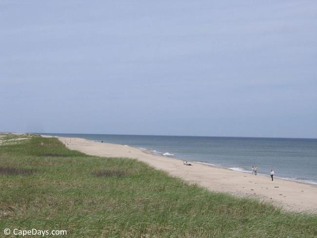 View of Nauset Beach from atop dunes