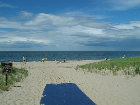 View of Race Point Beach with Access Mat