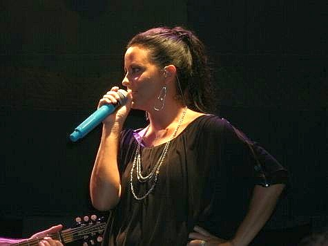 Photo of Sara Evans taken from our seats