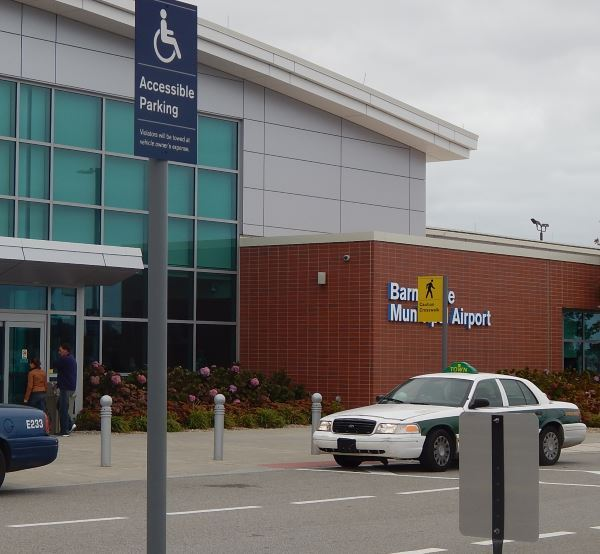 Cab waiting at Barnstable Municipal Airport